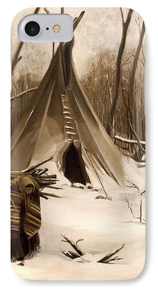 Wood Gatherer IPhone Case by Nancy Griswold