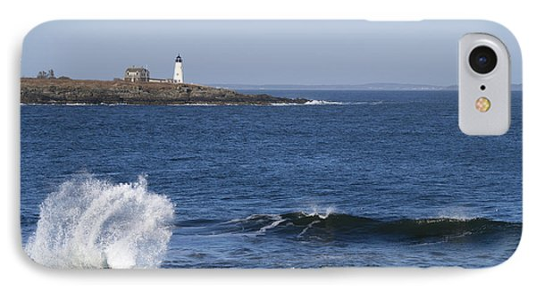Wood Island Light IPhone Case by Patrick Fennell