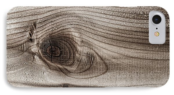 Wood Knot Abstract IPhone Case by Elena Elisseeva