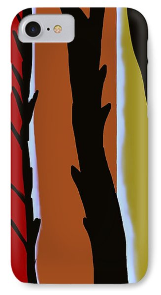 IPhone Case featuring the digital art Wood L by Christine Fournier
