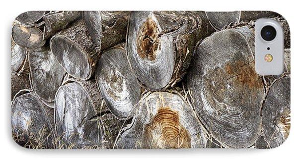 Wood Pile -  Fine Art  Photograph IPhone Case by Ann Powell