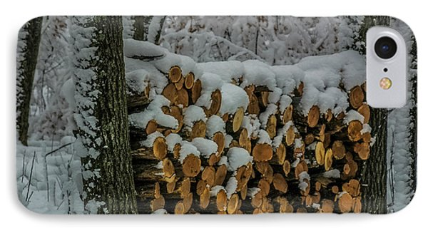 Wood Pile IPhone Case by Paul Freidlund