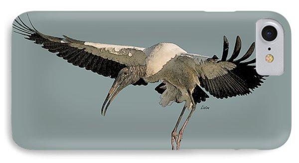 Wood Stork Flight IPhone Case
