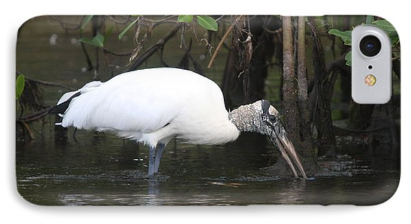Wood Stork In The Swamp IPhone Case by Christiane Schulze Art And Photography