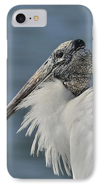 Wood Stork Portrait IPhone Case