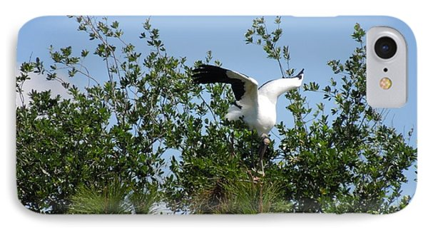 IPhone Case featuring the photograph Wood Stork by Ron Davidson