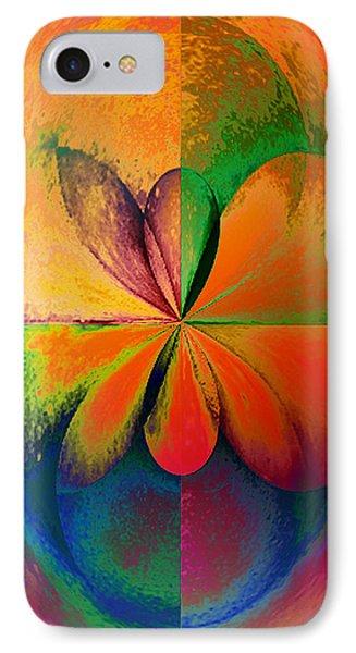 Wood Study 01 Quadrant IPhone Case by Paula Ayers