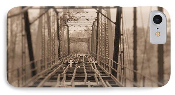 Woodburn Bridge Indianola Ms Bw IPhone Case