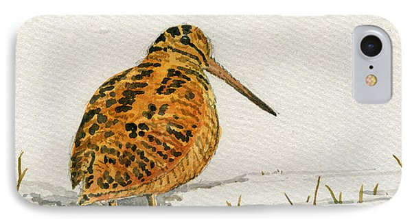 Woodcock Bird IPhone Case by Juan  Bosco