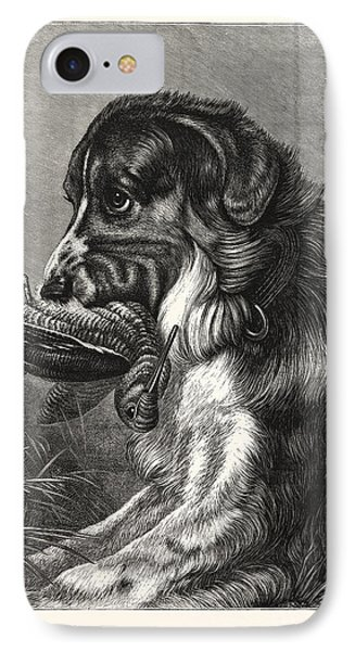 Woodcock-shooting, Hunt, Hunting, Dog IPhone Case by English School