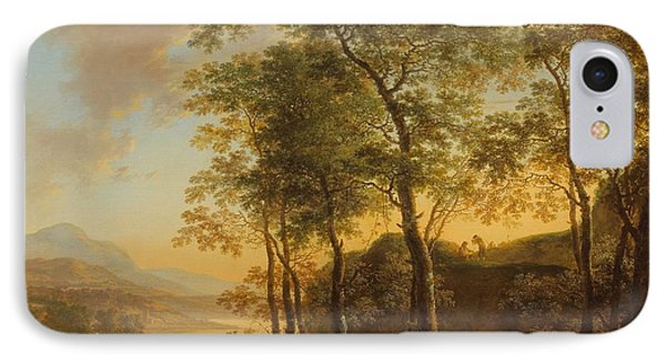 Wooded Hillside With A Vista IPhone Case by Jan Both
