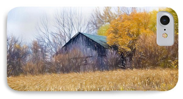 Wooden Autumn Barn IPhone Case by Jim Lepard