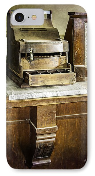 IPhone Case featuring the photograph Wooden Bank Cash Register by Betty Denise