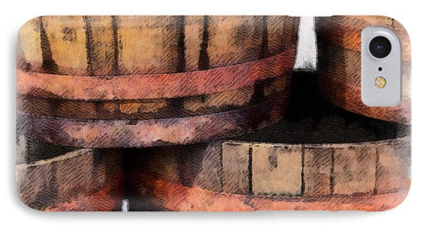 IPhone Case featuring the photograph Wooden Barrels by Brian Davis