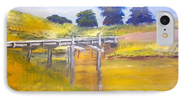 IPhone Case featuring the painting Wooden Bridge At Graften by Pamela  Meredith