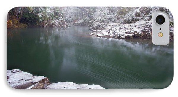 Wooden Bridge Snow IPhone Case