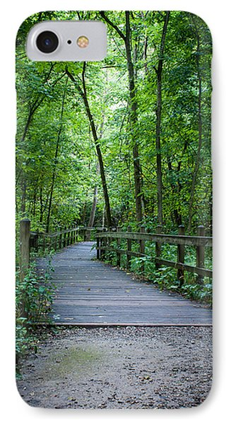 IPhone Case featuring the photograph Wooden Bridge by Wayne Meyer