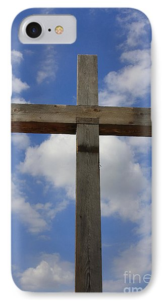 Wooden Cross IPhone Case by Jerry Bunger
