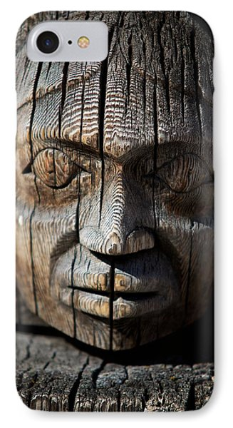 Wooden Face IPhone Case