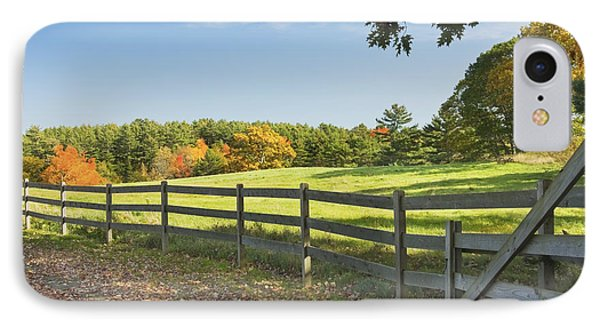 Wooden Fence In Autumn Maine Farm Pasture IPhone Case by Keith Webber Jr
