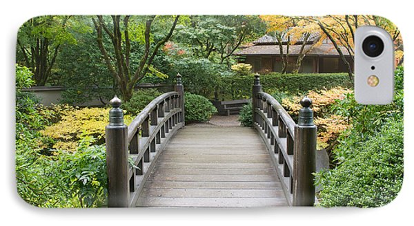 IPhone Case featuring the photograph Wooden Foot Bridge In Japanese Garden by JPLDesigns