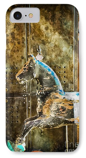 Wooden Horse IPhone Case by Colleen Kammerer