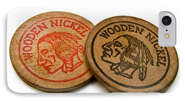 Wooden Nickels Phone Case by Amy Cicconi