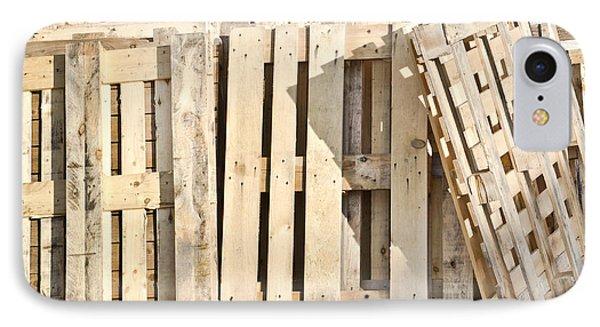 Wooden Pallets IPhone Case by Tom Gowanlock