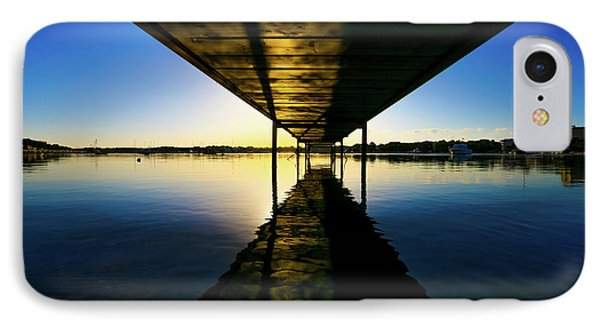 Wooden Pier At Sunset IPhone Case by Wladimir Bulgar