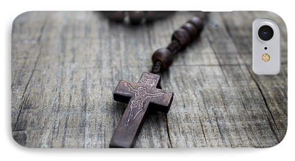Wooden Rosary IPhone Case by Aged Pixel