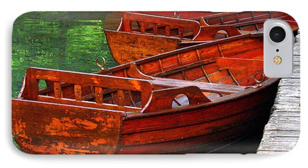 IPhone Case featuring the photograph Wooden Rowboats by Ramona Johnston