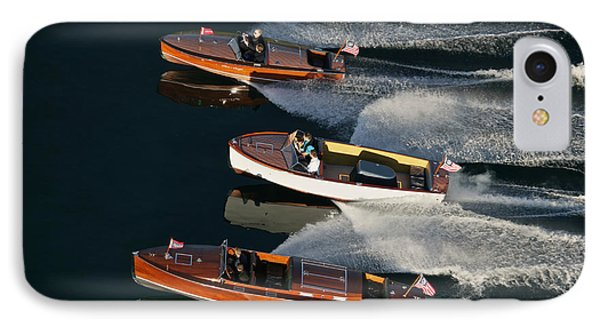 Wooden Runabouts On Lake Tahoe Phone Case by Steven Lapkin