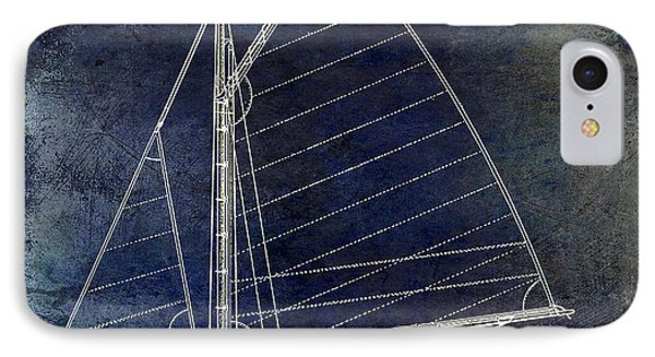 Wooden Sailboat Blue IPhone Case by Jon Neidert
