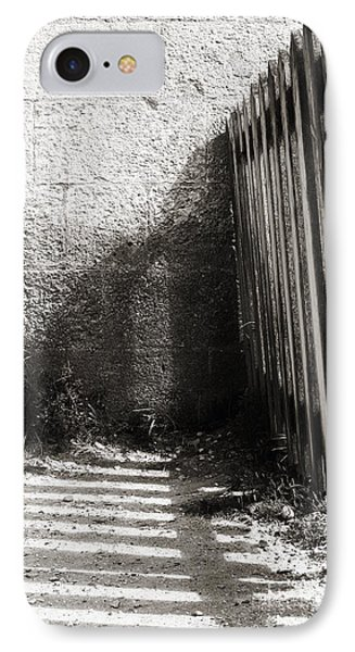 IPhone Case featuring the photograph Wooden Shadow by Cendrine Marrouat