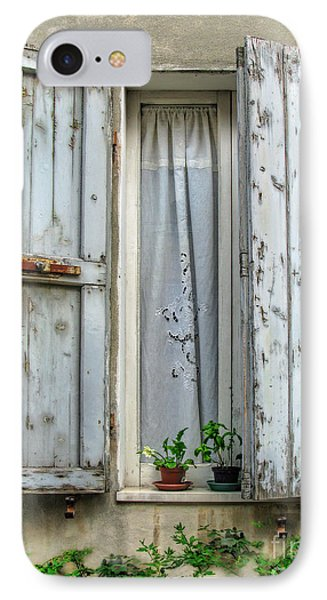 Wooden Shutters In Urbino IPhone Case by Jennie Breeze