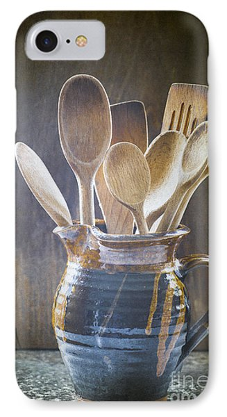 Wooden Spoons Phone Case by Jan Bickerton