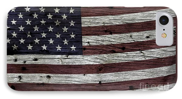 Wooden Textured Usa Flag3 IPhone Case