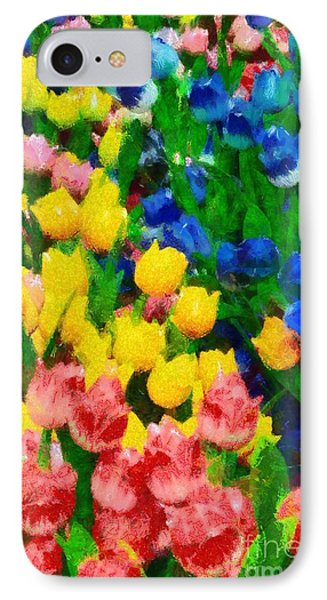 Wooden Tulips In Amsterdam Phone Case by George Atsametakis