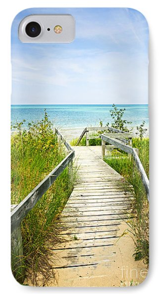 Wooden Walkway Over Dunes At Beach IPhone Case