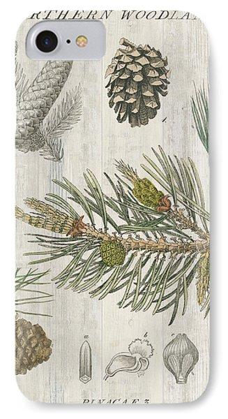 Woodland Chart IIi IPhone Case by Sue Schlabach