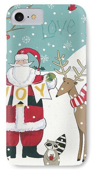 Woodland Christmas X IPhone Case by Anne Tavoletti