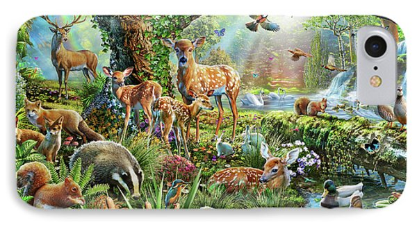 Woodland Creatures IPhone Case by Adrian Chesterman