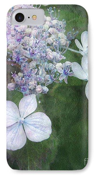 Woodland Hydrangea In Blue IPhone Case by Kathi Mirto