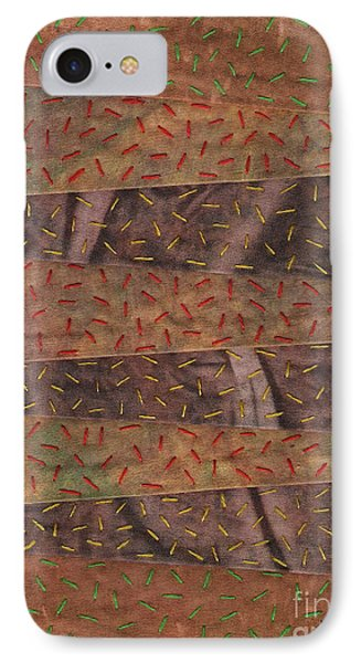 Woodland Quilt Block IPhone Case by David K Small