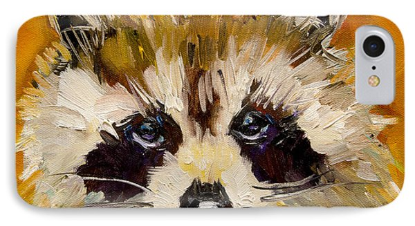 Woodland Racoon IPhone Case
