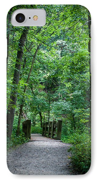 IPhone Case featuring the photograph Woodland Trail by Wayne Meyer