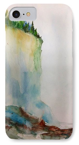 Woodland Trees On A Cliff Edge IPhone Case