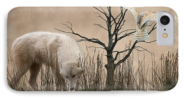 Woodland Wolf Reflected Phone Case by Sharon Lisa Clarke