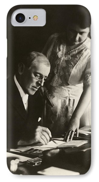 Woodrow And Edith Wilson IPhone Case by Georgia Fowler