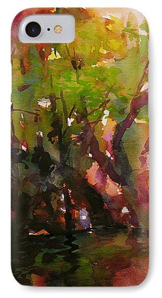 Woods And Creek Watercolor Phone Case by Julianne Felton